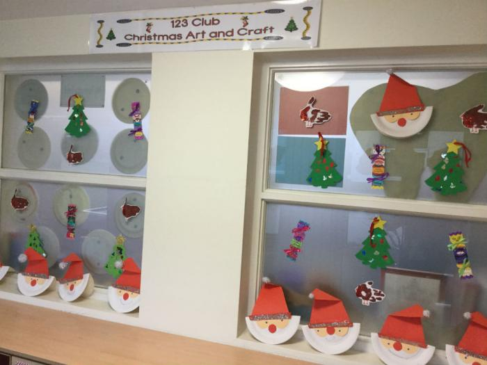 P1, P2 and P3 have been busy in 123 Club making crafts for Christmas.